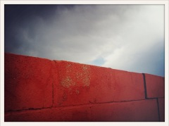salmon wall / Van Horn, TX