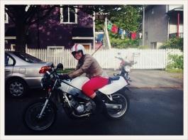 Marianne Bos / bike progress visit