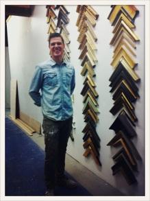 Jonathan Syme / in his Workshop / master guilder / thoughtful artist