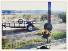 flame / trailer / Terlingua, TX