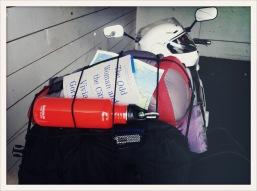 book / water / helmet / Port Angeles, WA / May 31