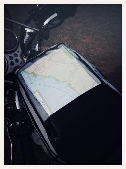 tank / bag / #map / #T100 / Olympic Peninsula, WA / June 1