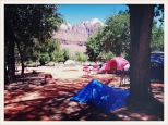blue / Watchman Campground / Zion National Park, Utah